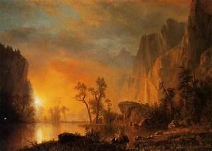 Sunset in the Rockies - Albert Bierstadt - WikiArt.org