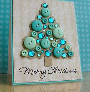 Weihnachtsbaum Selber Basteln : weihnachtskarten selber basteln mit kn pfen 28 tolle ideen ~ Lizthompson.info Haus und Dekorationen