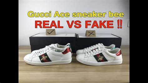 real  fake gucci ace sneaker compare