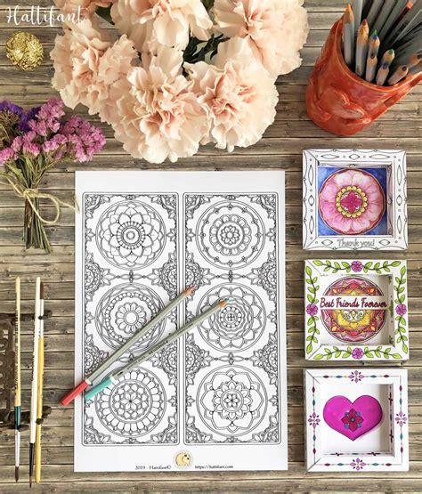 bookmarks intricate mandalas  color hattifant