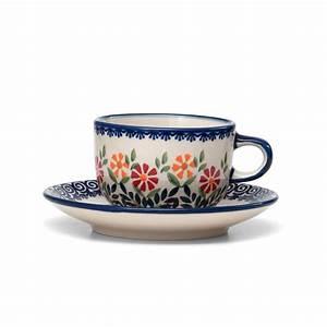 Tasse Mit Untertasse : 4h bunzlauer keramik tasse mit untertasse 200ml dekor js14 ~ Sanjose-hotels-ca.com Haus und Dekorationen