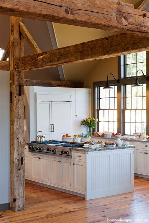 favorite rustic kitchens  exposed wood beams