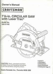 Owner U0026 39 S Manual Craftsman 7 4 Inch Circular Saw Model 320