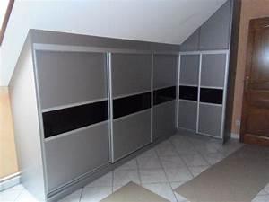 placard coulissant sous pente obasinccom With porte de placard sous comble