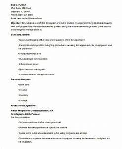 References Examples For Resumes Free 8 Sample Firefighter Resume Templates In Ms Word Pdf