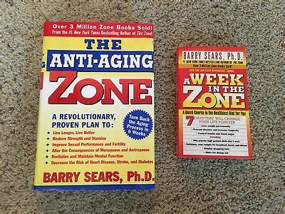 LOT 2 BOOKS BY BARRY SEARS THE ANTI AGING ZONE & A WEEK IN ...
