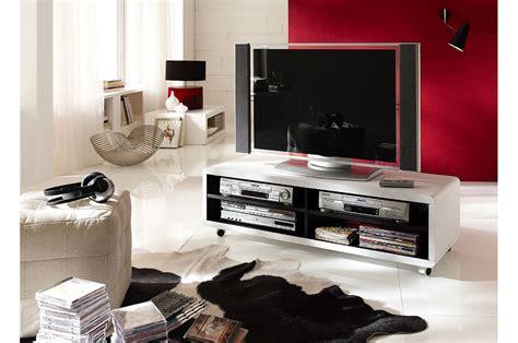 Meuble Tv Roulettes Blanc Et Noir Novomeuble
