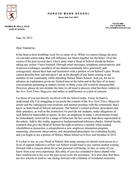 sample business letter middle school sample business letter