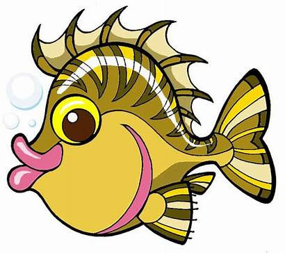 Fish Clip Clipart Cartoon Sea Animals Ocean