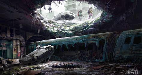 papel de parede apocaliptico futurista obra de arte
