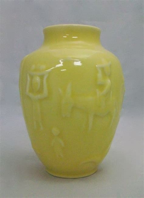 rookwood yellow mexican village vase   sale