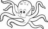 Coloring Octopus Printable Outline Drawing Printables Getdrawings sketch template