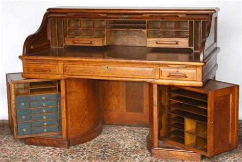 wooden roll top desk wooton oak roll top desk with rotary sides the rotary
