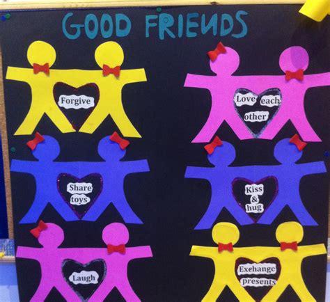 friendship bulletin board ideas for kindergarten preschool 147   76a30699d259323344e5222ca815c868