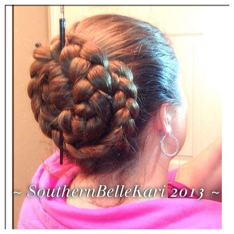 pony hair style braid bun w hair sticks buns 5575