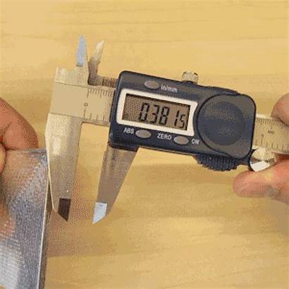 Thickness Measure Outside Calipers Midiendo Material Measuring