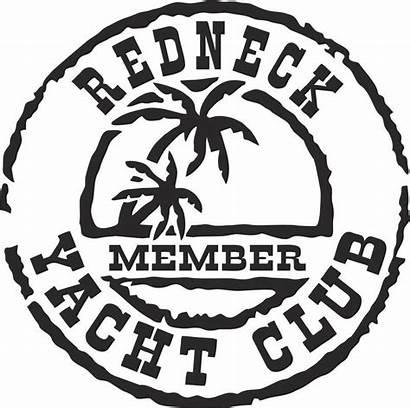 Yacht Club Decal Redneck Decals Vinyl Silhouette