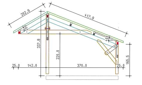 Carport Plan by Carport 2 Voitures Alpes 28 Pente Asym 233 Trique 32