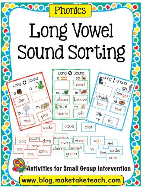Long Vowel Spelling Word Sort  Make Take & Teach