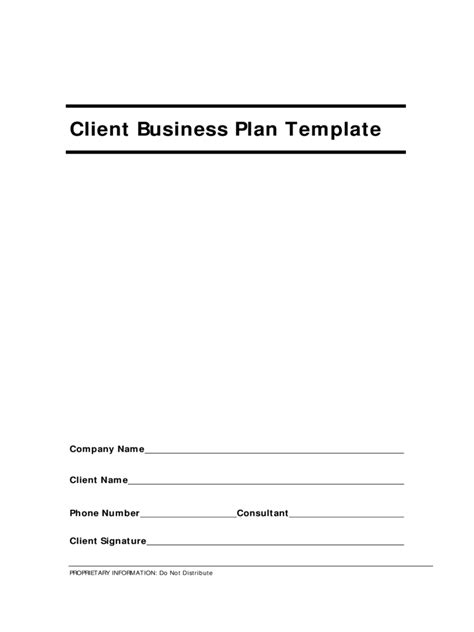 generic business proposal template   templates