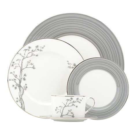dinnerware lenox grey piece setting gluckstein willow place dishes sets brian collection gray china dining dish bone patterns crockery fine