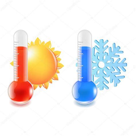 Thermometer heiße und kalte Temperatur — Stockvektor ...