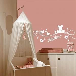 stickers muraux bb fille deco chambre bebe stickers With déco chambre bébé pas cher avec bouquet de fleurs romantiques