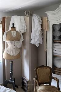 Chambre Shabby Chic : buste ancien dentelle chambre ambiance douce romantique et shabby chic le grenier d 39 alice ~ Preciouscoupons.com Idées de Décoration