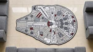 No room is truly decorated without a millennium falcon rug for Balkon teppich mit lego star wars tapete