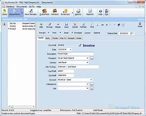 Ezy invoice lite invoicing software for small business for Invoice capture center