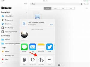 how to share icloud drive files in ios 11 from iphone and ipad With documents app ios 11