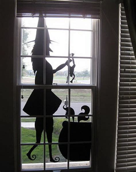 scary outdoor halloween decorations  silhouette
