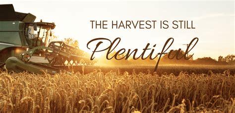 Copy of Copy of The Harvest Is Still Plentiful ...