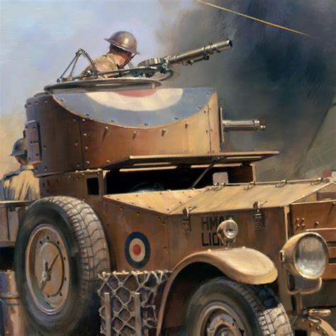 rolls royce armored car 39 habbaniya 2nd may 1941 39 military artist stuart brown