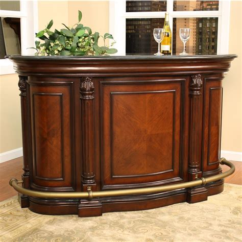 Portable Bar Furniture by 70 Inch Wood Home Bar Overstock Shopping Big