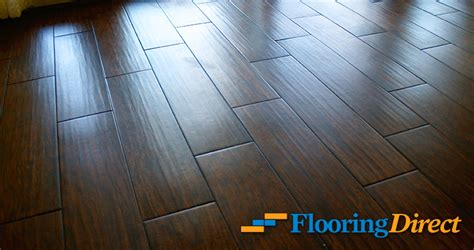 before and after pictures from wood look tile installation