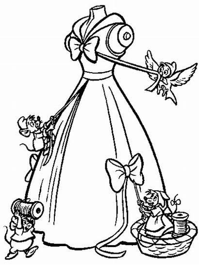 Cinderella Coloring Pages Disney Colouring Printable Sheets