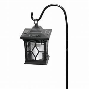 Laterne Garten Kerze : solar laterne 58cm mit flackernder led kerze ~ Lizthompson.info Haus und Dekorationen