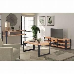 Ensemble Salon Sejour : ensemble meuble tv table basse achat vente pas cher ~ Teatrodelosmanantiales.com Idées de Décoration