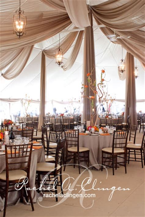 Tent Draping Fabric - cascading wedding tent ceiling draping and flowers toronto