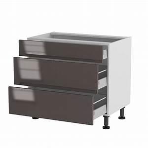 Facade Meuble De Cuisine : meuble cuisine bas 90cm 1 tiroir 2 casseroliers achat ~ Edinachiropracticcenter.com Idées de Décoration