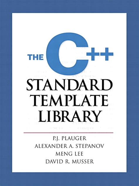 standard template library in c c standard template library the informit