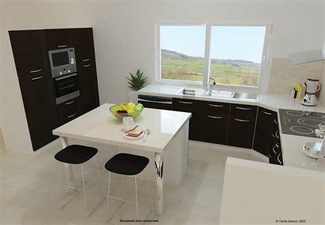 cuisine en 3d facile projet cuisine 3d table de cuisine