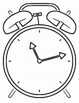 Clock Alarm Printable Coloring Cartoonized Wecoloringpage sketch template