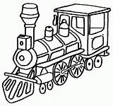 Coloring Train Pages Trains sketch template