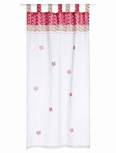 rideau brode fleurs chambre bebe souris39zette rose moyen With tapis chambre bébé avec fleurs à broder