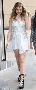 Little Mix's Perrie Edwards wears boho lace minidress for