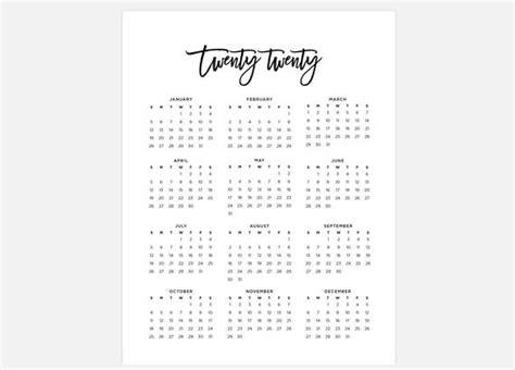 printable  calendar simple calendar  year calendar