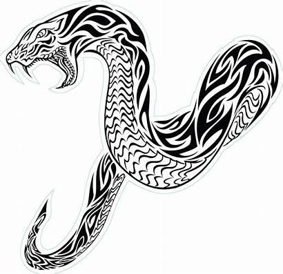 Snake Tribal Tattoo Tattoos Designs Cobra Draw