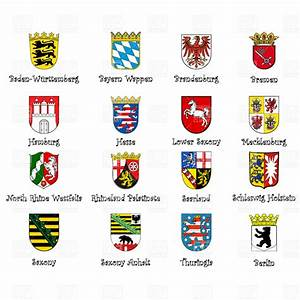 Coat of arms of provinces of Germany Royalty Free Vector ...